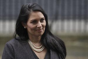 Britská ministerka vnútra Priti Patelová.