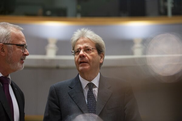 Eurokomisár pre hospodárske záležitosti Paolo Gentiloni.