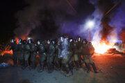 Protesty vypukli v dedine Novi Sanžary v Poltavskom regióne.