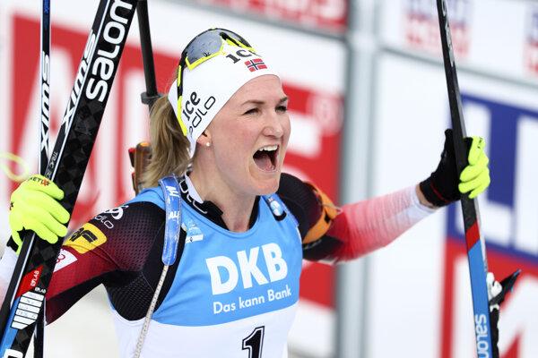 Nórka Marte Olsbuová Röiselandová stanovila nový rekord na MS v biatlone.