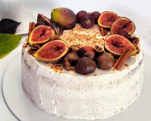 Gaštanová torta s orieškami a škoricou