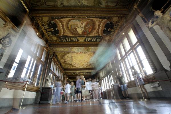 Slávna florentská galéria Uffizi.
