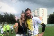Iveta Šemrincová s manželom Igorom, futbalovým brankárom AS Trenčín.