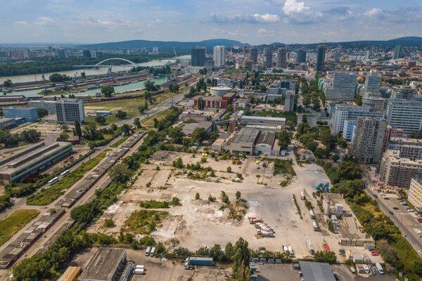 Územie, na ktorom má vyrásť nový projekt od YIT Slovakia.