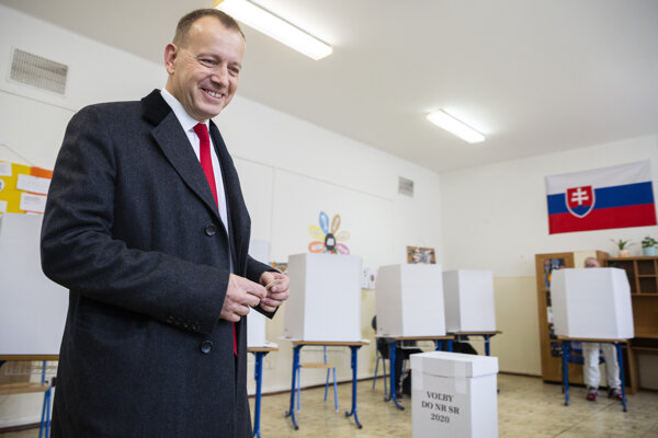 Voľby 2020: Líder hnutia Sme rodina Boris Kollár.