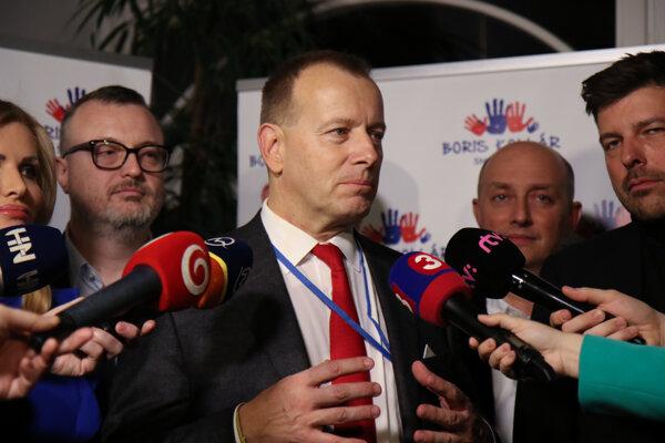 Voľby 2020: Boris Kollár počas volebnej noci.