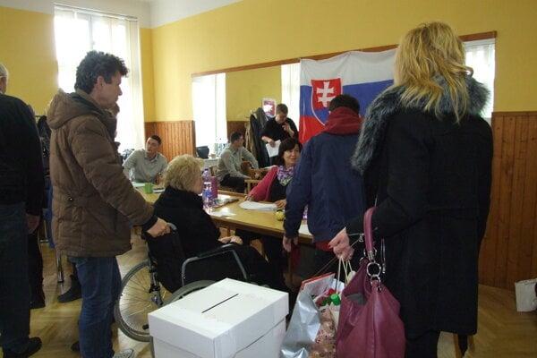Voľby v Nitre.