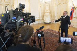 Voľby 2020: Predseda strany Za ľudí Andrej Kiska na stretnutí s prezidentkou Zuzanou Čaputovou.