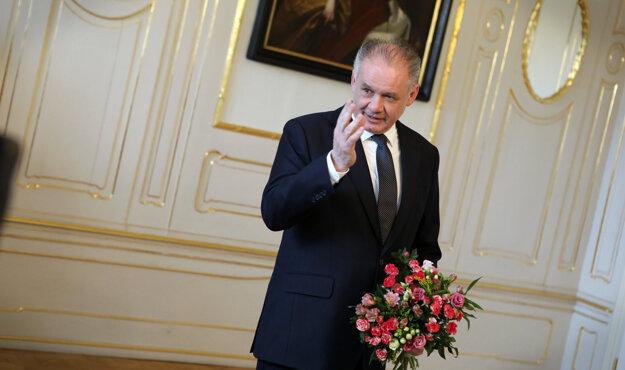 Voľby 2020: Andrej Kiska v prezidentskom paláci.