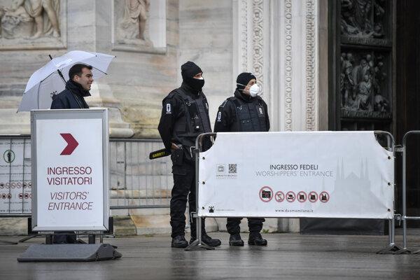 Opatrenia v centre Milána