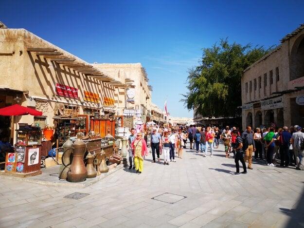 Bazárové uličky v Dauha