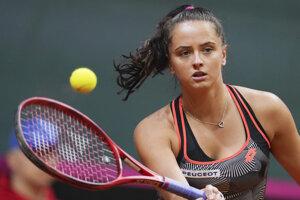 Slovenská tenistka Viktória Kužmová.