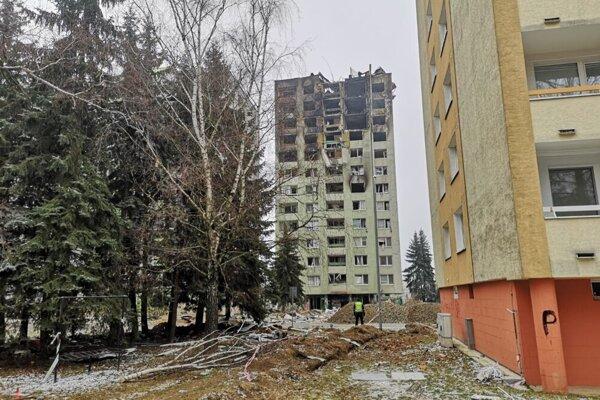 Bytovka na Mukačevskej ulici dva dni po výbuchu.