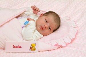 Bianka Bobeková z Horných Vesteníc s narodila 28.2. v Bojniciach