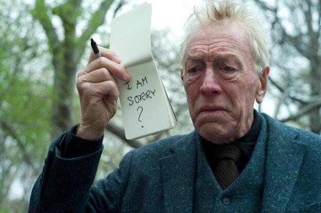 Max von Sydow vo filme Neuveriteľne hlasno a neuveriteľne blízko, za ktorý bol v roku 2012 nominovaný na Oscara.