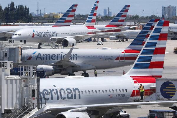 Lietadlá spoločnosti American Airlines.