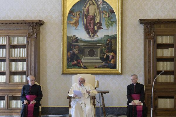 Príhovor pápeža Františka z pápežskej knižnice.