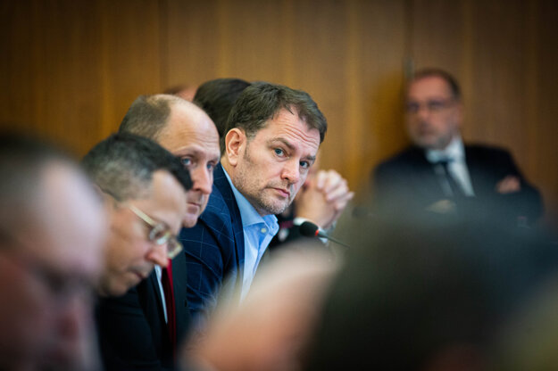 Igor Matovič na zasadnutí krízového štábu.