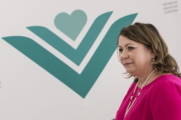 Generálna riaditeľka Všeobecnej zdravotnej poisťovne Ľubica Hlinková.