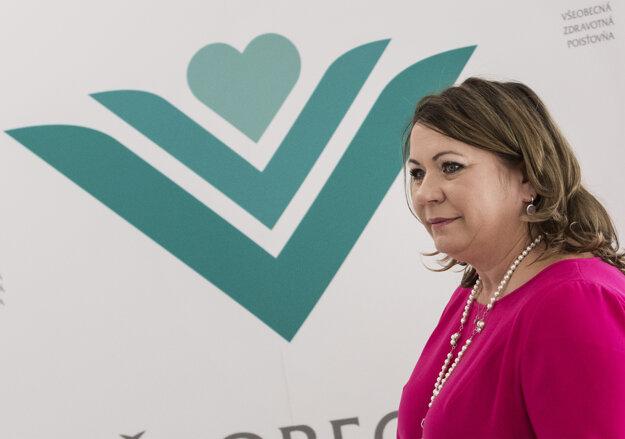Už bývalá generálna riaditeľka Všeobecnej zdravotnej poisťovne Ľubica Hlinková.