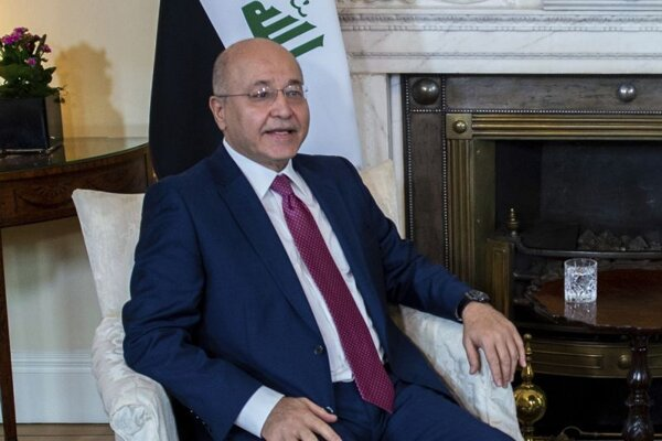 Iracký prezident Barham Sálih.