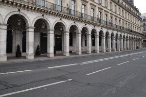 Prázdne ulice v Paríži.