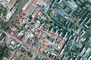Ohraničenie centrálnej mestskej zóny, kde sa bude dať pripojiť na bezplatnú bezdrôtovú internetovú sieť.