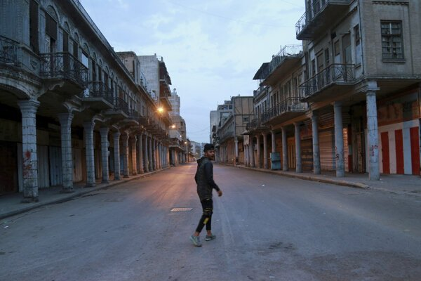 Prázdne ulice Bagdadu.