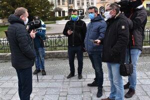 Jozef Balica, OZ KOVO, pred médiami.