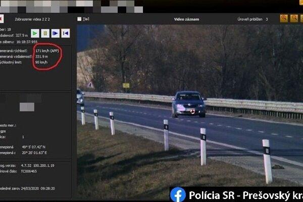 Cestného piráta zamerali na ceste I/66.