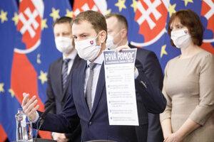 Igor Matovič predstavuje balík Prvej pomoci zamestnancom, živnostníkom a firmám.