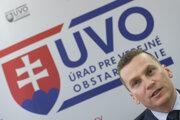 Na snímke predseda Úradu pre verejné obstarávanie Miroslav Hlivák.