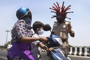 Indický policajt Rajesh Babu.