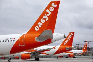 Lietadlá leteckej spoločnosti easyJet.