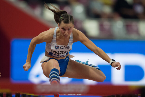 Stanislava Škvarková počas svetového šampionátu v katarskej Dauhe v jeseni 2019.