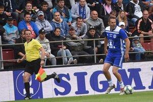 Ľubomír Reiter si v septembri zahral pri oslave storočnice olomouckého futbalu.