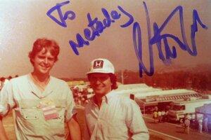 Metoděj Aleš s majstrom sveta Nesonom Piquetom