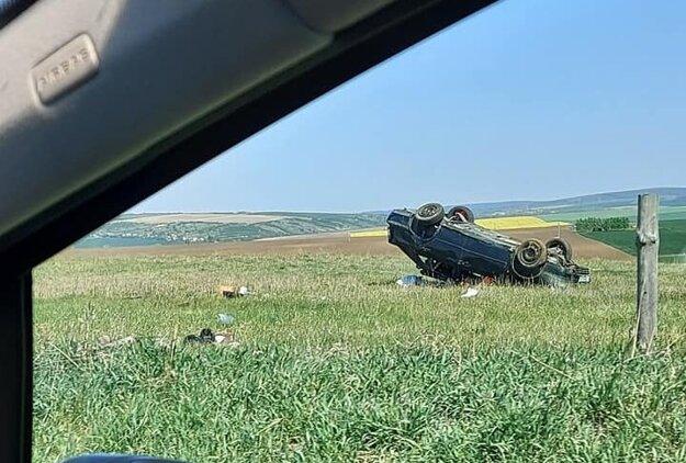 Nehoda v smere z Holíča na Petrovu Ves.