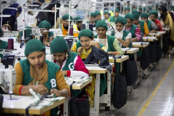 Textilná továreň v Dhamrai v blízkosti Dháky