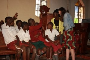Lenka Karahutová v Ugande.