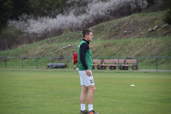 Roland Šmahajčík počas tréningu.