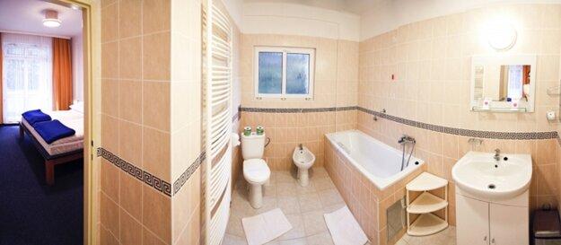 Pohľad do apartmánu v kúpeľnom hoteli Palace na Sliači.
