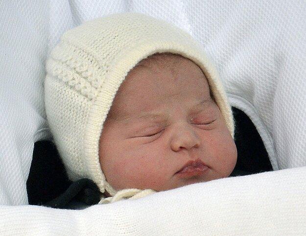 Jedna z prvých fotografií malej princeznej.
