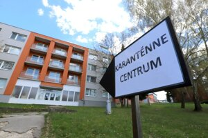 Karanténne centrum v školskom internáte vo Zvolene.
