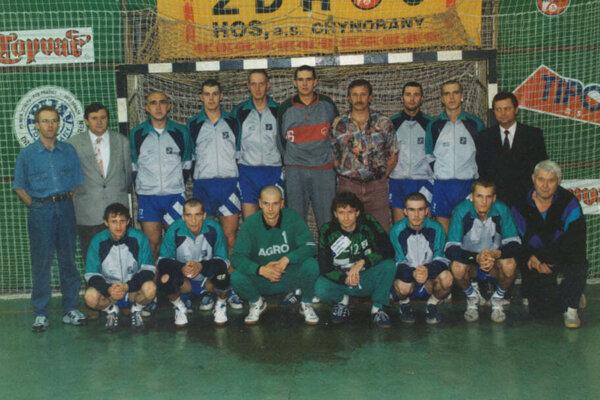 Topoľčianski majstri zo sezóny 1995/1996.