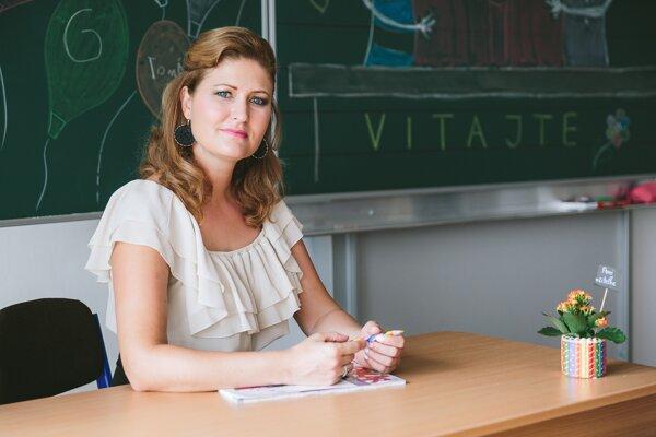 Učiteľka Zuzana Balcová zo Súkromnej základnej školy v Pezinku.