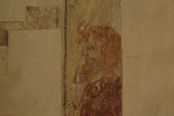 Fragment odkryl aj muža s mešcom, podľa ikonografie ide o zradcu Judáša.