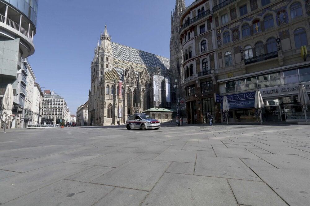 Dóm svätého Štefana vo Viedni na foto z 19. marca 2020.