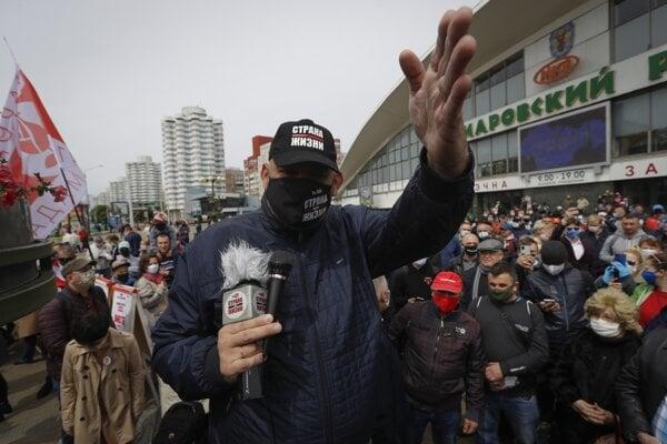 Opozičný aktivista Sergej Cichanovskij.