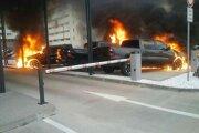 Ranný požiar áut v Bratislave spôsobil škodu 200-tisíc eur.